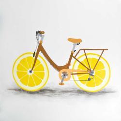 Bicyclette avec roues de citron