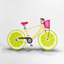 Bicyclette avec roues de lime