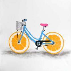 Bicyclette avec roues d'orange