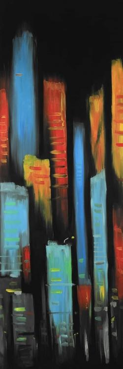 Abstract and colorful tall buildings