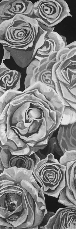 Grayscale roses