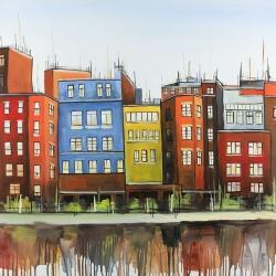 Boston colorful buildings
