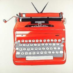 Red typewritter machine