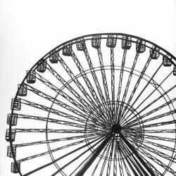 Monochrome ferris wheel