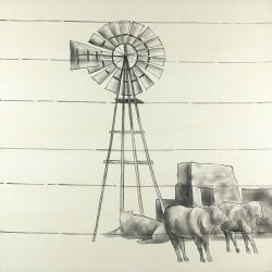 Vintage old texas windmill