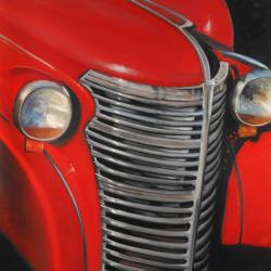 50's car grid closeup