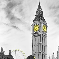 Outline of big ben in london