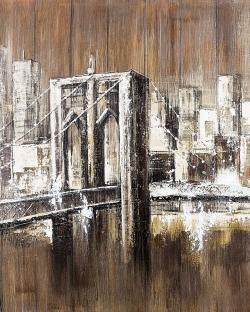 Aged finish brooklyn bridge