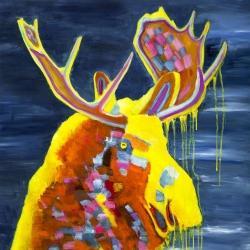 Colorful moose