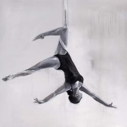 Dancer on aerial silks