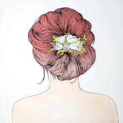 Lady with flowers in her hair