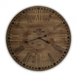Horloge de bois de style rustique