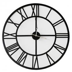 Horloge de métal noire minimaliste