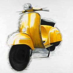 Yellow italian scooter