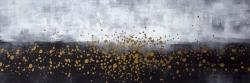 Gold paint splash on gray background