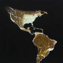 American continent at night