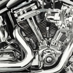 Mécanisme d'une moto