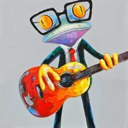 Drôle de grenouille à la guitare