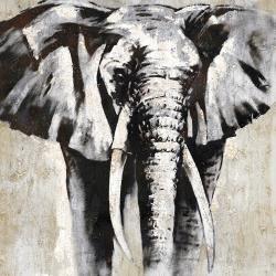 éléphant en beige