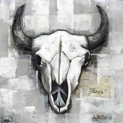 Crâne de taureau de style industriel