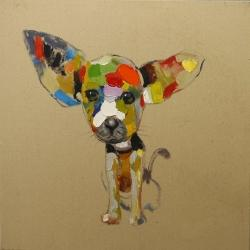 Abstract colorful chihuahua