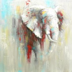Abstract elephant with paint splash