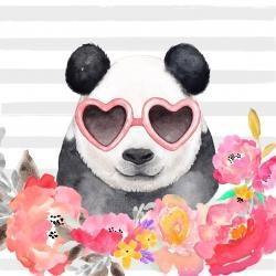 Panda à lunette en forme de coeur
