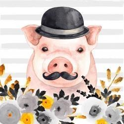 Small detective pig