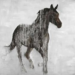 Cheval brun abstrait