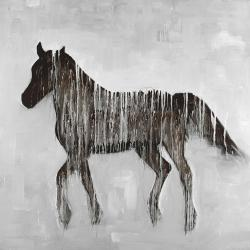Cheval abstrait gambadant