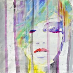 Abstract colorful portrait