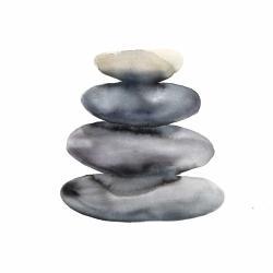 Four hot stones
