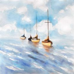 Sailboats in the sea