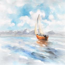 Sailboat landscape