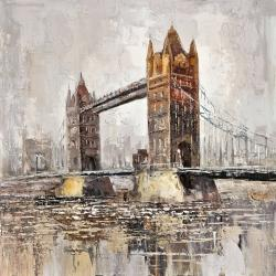 Tower bridge by a cloudy day