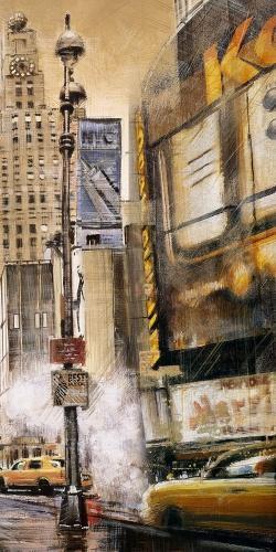 Rue de grande ville par un jour gris