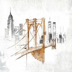 Brooklyn bridge blurry sketch