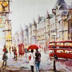 European street by a rainy day