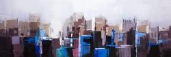 Abstract cold city