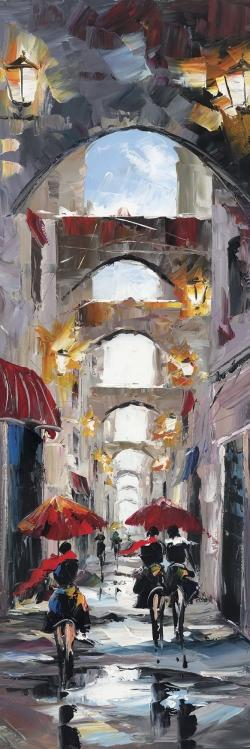 Alleys with arch