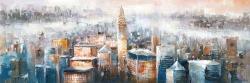 Paysage urbain de new-york avec l'immeuble chrysler
