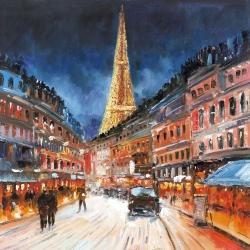 Paris en rouge et bleu