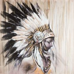 Indian with an headdress chief