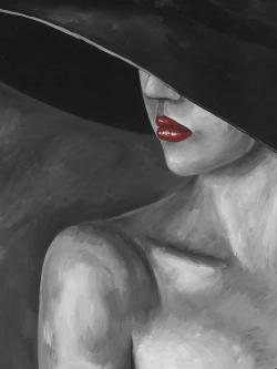 Mysterious woman with a hat