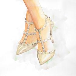 Studded high heels