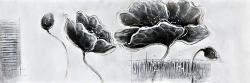 Industrial style grayscale flowers