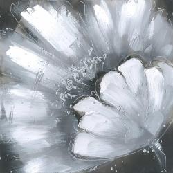 White flower with paint splash