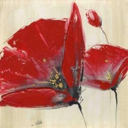 Three red flowers