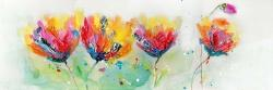 Four colorful flowers