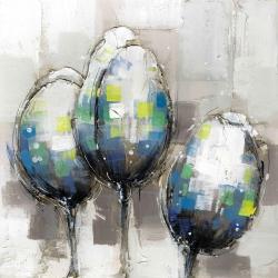 Three abstract tulips
